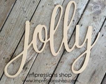 Jolly wooden Cutout