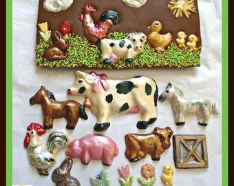 Farmyard Chocolate Bar/Farm Animals/Animal Lover.Farmer/Farm Life/Kids Birthday Gift/Female Chocolate/ Children's Edible/Novelty Chocolate