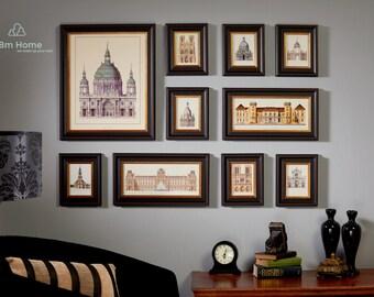 Photo Frame Set, Set of 10 Vintage Photo frame Collection, Creative wall Decoration (B2003)