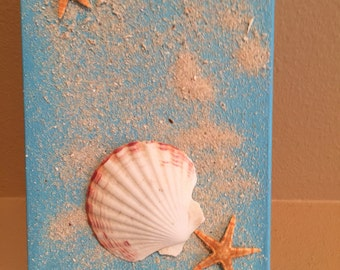 Piece of Paradise Shell Canvas