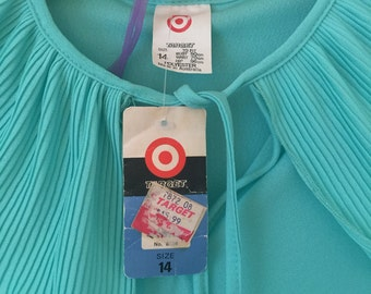 Vintage retro target aqua dress