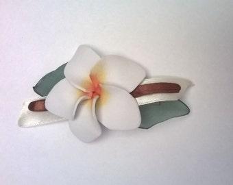 Plumeria flower foamy. Frangipani. Flower for Polynesian dances. Flower rubber eva