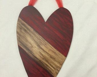 Rustic Heart Decor, Distressed Heart, Heart Decor, Heart Decoration, Heart, Anniversary Gift, Housewarming, Wedding Gift, Rustic Heart, Love