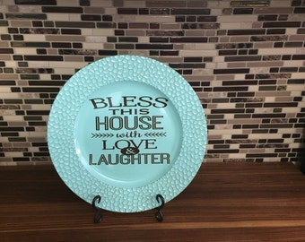 Bless this House Charger, Charger, Thanksgiving Decor, Thanksgiving Decoration, Fall Decor, Fall Decoration, Centerpiece, Table Decor, Fall