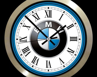 """BMW Cars 10"""" aluminium large wall clock"""