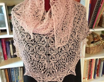 """Scarf """"Delicate lace"""" hand-knitted"""