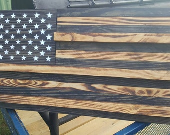 American flag challenge coin holder