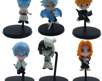 Mister A Gift Bleach Manga/Anime set of 6 Plastic Cake toppers