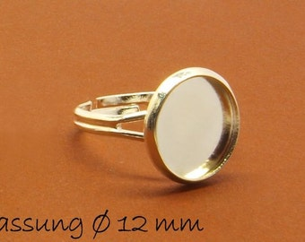 10 ring blanks 17 mm silver 12 mm cabochon version