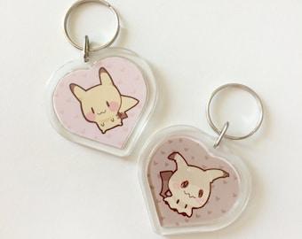Pokemon Pikachu Mimikkyu Doublesided Keychain
