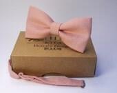 Pink Bow Tie for wedding / linen bow tie for men / bow tie pink / bow tie for baby / pink boy's bow tie, pink necktie, men's pink bow tie