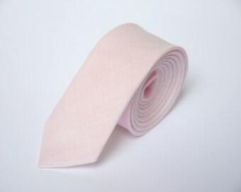Blush pink Tie For Wedding / Necktie For Groomsmen / Blush pink Pocket Square With Tie / Blush pink Men's Tie / Blush pink Bow tie For Men
