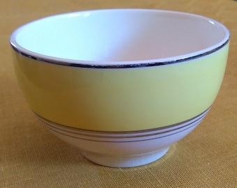 Johnson Bros Pareek yellow and cream vintage china sugar bowl