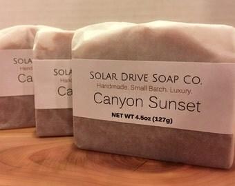 Canyon Sunset  Handmade Soap
