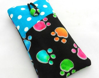 "Smart phone case ""paw"", 14 cm x 8 cm, desired dimensions possible"
