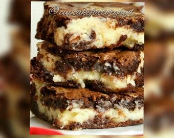 Chocolate Cream Cheese Swirl Brownie
