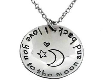 I Love You To The Moon And Back (Fine Pewter)