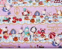 """Sentimental Circus Character Fabric made in Japan / FQ 45cm by 53cm or 18"""" by 21"""""""