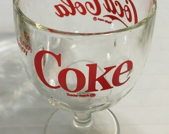 Vintage Coke Glass Goblet