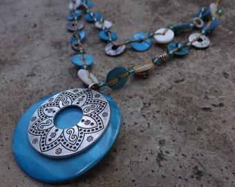 Aqua Summer Necklace