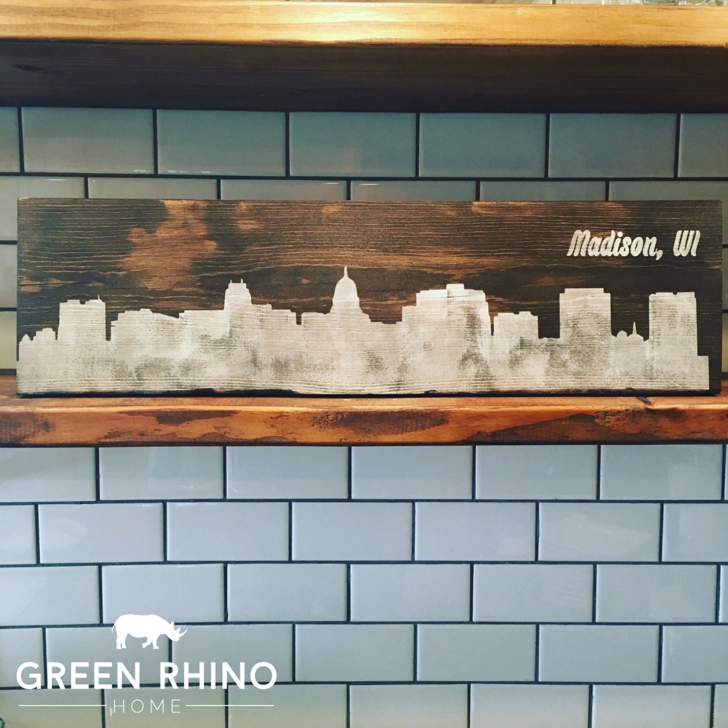 Madison Wi Skyline On Wood Madison Wi Home Decor And Gifts