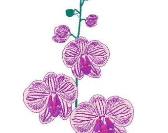 Machine embroidery design flowers Orchid 7