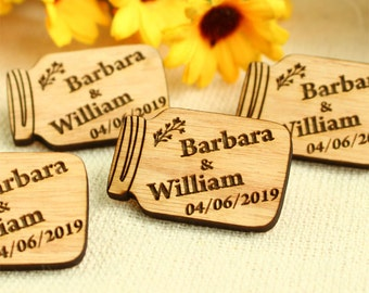 Mason Jar, wedding favour, wedding favour tags, custom tags, personalized tags, wood tags, wood favor, table decor, wedding decoration