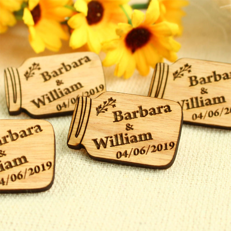 Wedding Favor Tags For Mason Jars : Mason Jar wedding favor wedding favour tag custom tag