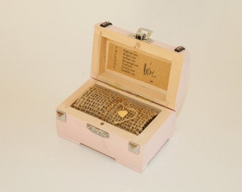 Wooden jewelery box, weeding and any other occasion!