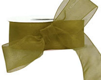 Willow Green Sheer Ribbon   (10-##-S-131)
