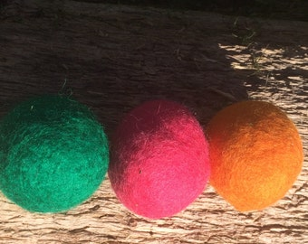 3 Felted Catnip Balls