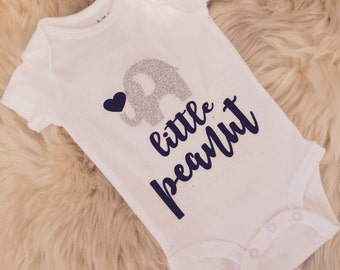 Newborn baby custom little peanut onesie