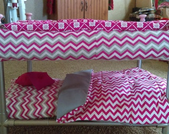 """18"""" doll bed and bedding"""