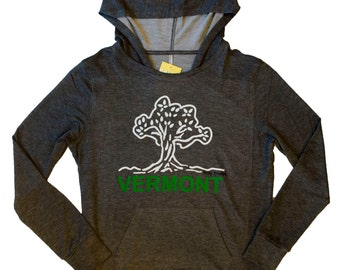 Truly Trudys Classic Tree Super Soft Hoodie - Charcoal
