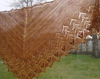 shawl, cheche, hand knitted stole
