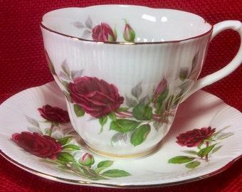 Royal Albert Royal Canadian Rose Teacup and Saucer