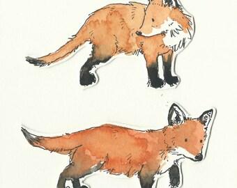Original illustration - Baby Foxes