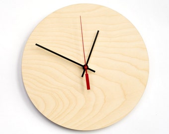 Pure wood clock, Zen clock Large wall clock, Wood modern clock, Wooden unique clock, Housewarming gfit, Decorative clock