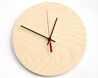 Pure wood clock, Zen clock Large wall clock, Wood modern clock, Wooden unique clock, Housewarming gfit, Decorative clock