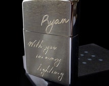 Personalized Brushed Chrome Zippo Lighter (4 Sizes Engraved)