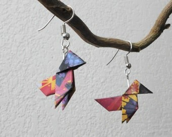 Earrings origami casserole