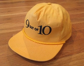 Vintage 9 out of 10 yellow rope hat