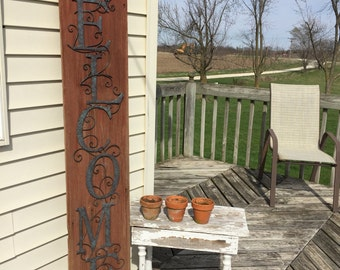 Rustic Red Barn Siding Welcome Sign