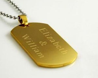 Dog Tag Gold plated over steel
