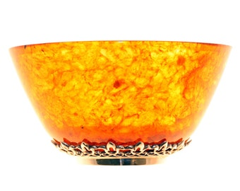 Natural Amber Plate. 100% Abmer with Bronze. FREE Shipping
