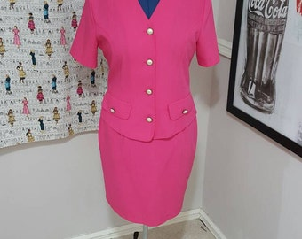 Vintage Pretty In Pink 2pc Suit