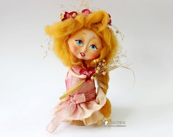 """ArtDoll mavka """"Malva"""" from ethnic character collection, Wooden Doll, Hand Made, One Instance"""