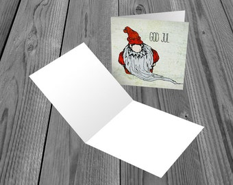 6 Christmas Cards with Tomte design - 148mm x 148mm