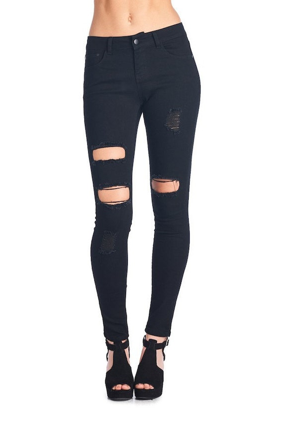 Distressed Black Jeans | All Torn Up