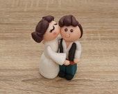 Star Wars wedding cake topper, Han Solo and Leia StarWars Cake Topper, Star Wars Cake Topper, Wedding Cake Topper, Custom Cake Topper